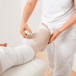 Entstauungstherapie-Lymphödem-Bein-Wickeltechnik